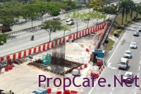 Balakong MRT Station Construction in Progress
